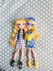 First and Last Blondie 💛💙💛💙 (Christo3furr) Tags: mattel fashion doll monster ever after disney princess high blondie locks barbie