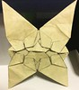 Alternative version (variation) 0.9 of Butterflies meet star tessellations (o'sorigami) Tags: origami complex paper folding paperfolding satoshikamiya satoshi kamiya tessellation tess butterfly art