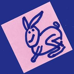 MAGGY-L's кролик (Jean-Luc Léopoldi) Tags: dessin lapin rabbit feutre postit naïf