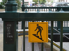 Cathedral Parkway (TheMachineStops) Tags: 2017 outdoor nyc newyorkcity manhattan morningsideheights steps stairs sign subway metal nycta mta irt entrance exit text pictogram