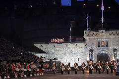 Tattoo 2nd Visit-13 (Philip Gillespie) Tags: 2017 edinburgh international military tattoo splash tartan scotland city castle canon 5dsr crowds people boys girls men women dancing music display pipes bagpipes drums fireworks costumes color colour flags crowd lighting esplanade mass smoke steam ramparts young old cityscape night sky clouds yellow blue oarange purple red green lights guns helicopter band orchestra singers rain umbrella shadows army navy raf airmen sailors soldiers india france australia battle reflections japan fire flames celtic clans