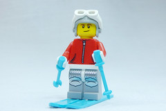 Brick Yourself Custom Lego Figure Shiny Skier