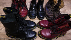 "_1060326: ""Miley Cyrus ruined Dr Martens!"" (network67) Tags: purple dr martens boots footwear"