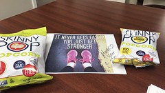 Jerrica enjoyed the healthy treats from her Secret Encourager.