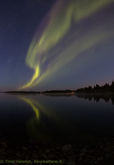Northern Lights over the lake (Hotel Korpikartano) Tags: korpikartanofi menesjarvi auroraborealis northernlights revontulet inarilapland laplandfinland lapland sigma10mm