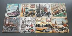 Gạch trang trí mẫu Car Retro