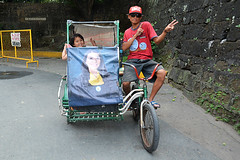 Father and daughter Phiippines_6272 (ichauvel) Tags: tricycle vélo moyendetransport taxi enfant child childood petitefille littlegirl homme man père father complicité complicity fun content happy rue street scénederue streetphotography attitude sourire smile manille manila oldmanila manilleintramuros philippines iledeluzon luzonisland asie asia asiedusudest southeastasia voyage travel exterieur outside jour day janvier january
