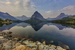 Swiftcurrent Lake Reflections, Many Glacier Area, Glacier National Park, Montana (rebeccalatsonphotography) Tags: swiftcurrent lake reflection reflections mountains manyglacier np nationalpark glaciernationalpark glacier landscape rebeccalatsonphotography