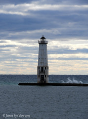 The Great Lakes (JamesEyeViewPhotography) Tags: frankfort lighthouse lake michigan beach water waves northernmichigan clouds greatlakes lakemichigan landscape autumn jameseyeviewphotography