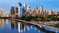 Philadelphia Reflections (RaulCano82) Tags: philly philadelphia skyline city reflection longexposure canon 80d raulcano river water photography pa pennsylvania schuylkill schuylkillriver cityscape citylights downtown buildings downtownphilly downtownphiladelphia bluehour