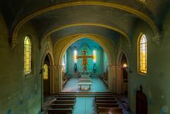 Blue Chapel (Emeuh-Bru) Tags: bluechapel urbex abandonné abandoned explorationurbaine urbanexploration lost église bleu blue italie italia