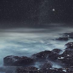 DreaminG Oceans II (Dyrk.Wyst) Tags: atlanticocean canaryislands kanarischeinseln lapalma abstract blur longexposure mood motion nature outdoor rockswaves saltwater sea smooth soft photomanipulation night stars space mist surreal moody dreamy darkblue silken magical seascape