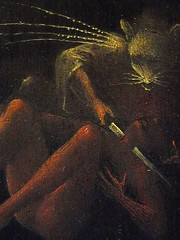 BOSCH Jérôme,1505-10 - Vision de l'Au-Delà, L'Enfer (Venise) - Detail 04 (L'art au présent) Tags: art painter peintre details détail détails paintings15e 15hcenturypaintings peinturehollandaise dutchpaintings peintreshollandais dutchpainters 19thcentury venice veneziana museum italie italia italy hieronymus monstres monster monsters jugementdernier lastjudgment bible fire battle femme woman women man men hommes people personnes figures figure bare naked nu paradise hell couteau knife mort death ange angel angels halloween
