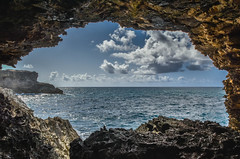 The Cave (Dave Cool Britannia) Tags: animalflowercave barbados sea frame framed caribbean northpoint sky seascape clouds sunlight