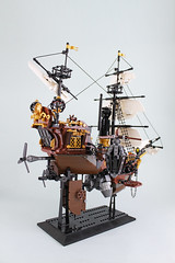 IMG_1158 (bricks.life.idea) Tags: lego airship skyboat steampunk dwarves