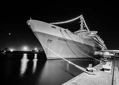 Rotterdam BW (skees499 ) Tags: ssrotterdam keesmolenaar ship cruiseship nikon d810 film zwartwit ruis korrel grain holland silverefexpro nik niktools