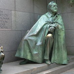 Washington D.C.: Statue of  Franklin Delano Roosevelt   with Fala, his Scottish Terrier thumbnail