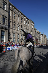 Riding of the Marches 2017-55 (Philip Gillespie) Tags: edinburgh 2017 riding marches horses people men woman girl boy family canon eos 5dsr royal mile scotland saddles styrups glasses helmets ribbons bridles sun sunshine summer warm afternoon equestrian equine hair rode crowds gathering teeth tongues face legs hands arms arches eyes mouth pony gymnastics acrobatics tartan band tuba drums brass silver playing music marching sheet trombone tails harness animal