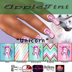 AppleTini Unicorn Nails (CinnamonApplePie) Tags: vistabento bento maitreya belleza slink omega nailpolish nails mani pedi mesh fable fairytales unicorn polish makeup
