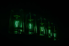 Glass-lamps (Pedro1742) Tags: lamps glass green blackbackground