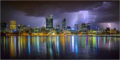 City of Lights (beninfreo) Tags: perth perthstorm lightning light storm stormchaser night reflection reflections swanriver westernaustralia australia