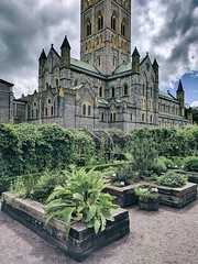 Gardens (ancientlives) Tags: buckfast buckfastleigh buckfastabbey devon england uk europe travel walking trips southwest abbey church christian cathedral catholic sunday august 2017 summer gardens herbs flowers nature plants