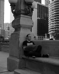 """Chi-Town Blues: Wish I Were in Amsterdam"" - Chicago - 12 Aug 2017 - 7D II - 034 (Andre's Street Photography) Tags: chicago12aug20177dii amsterdam chicago downtown chitown mokum riverwalk chicagoriver man sitting sign straat street straatfoto straatfotografie candid fotografiadistrada streetphotography streetphoto streetportrait straatportret bw bwphoto bwphotography zwartwit schwarzweiss noiretblanc blancoynegro bn blancoenero strasse strada lacalle laure stad stadt people city mensen homesick melancholy chicagoil windycity secondcity wishiwere chitownblues metropolis urban urbanphotography urbana wishfulthinking chicagoist chicagotribune chicagoreader chicagojournal chicagomagazine chicgocapture photobyandrevanvegten tributetoedvanderelsken dedicatedtodianearbus robertfranksworld vivianmaiersstyle dutchstreetphotographer aroundillinois enjoyillinois illinois canon eos 7d 7dii efs24mmstm 24mmprime primelens"