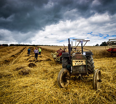 How They Used To Do It (RonnieLMills) Tags: county down traction engine club annual rally rosemount estate greyabbey hay bale making fordson tractor binder