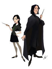 Calista and Severus Snape (jaded99) Tags: snape harry potter calista fanart fanfiction magic wands hp severus snapes daughter