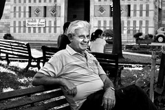 Black & White portrait of grandfather (mao832) Tags: black white bw bianconero blackwhite portrait grandfather nonno grandson nipote italia italy veneto recoaro terme grass smile erba sorriso laugh gioco best photography fotografia apple iphone nephew nikon d5500 reflex nero bianco