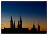 A Postcard From Wuerzburg (Armin Fuchs) Tags: arminfuchs würzburg wuerzburg germany evening sunset dom neumünster blue orange green silhouette scherenschnitt postcard postkarte towers church