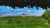Beyond the seven mountains (RainerSchuetz) Tags: landscape house meadow hill agriculture cornfield eyecatcher