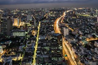 nighttime at bangkok