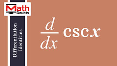 Derivative of csc x with respect to x (Math Doubts) Tags: derivative differentiation derivativelaw derivativeformula derivativeidentity derivativerule differentiationformula differentiationlaw differentiationrule differentiationidentity calculus calculusidentity calculuslaw calculusrule calculusformula