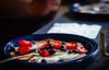 Breakfast (winhide) Tags: blueberries breakfast pancakes strawberries yoghurt pickupsticks food found objects