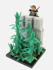 Scoping the Area (Gareth Gidman) Tags: lego asian ninja bamboo china
