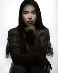 Sol (AM.Foto) Tags: woman portrait brunnete brunette latina strobist studio alienbees fotodiox aleandmarkldodge amfoto shadows lowkey