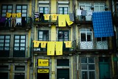 Colorful Porto (michael.mu) Tags: leica m240 50mm noctilux leicanoctiluxm50mmf095asph porto portugal yellow balcony laundry
