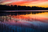 sunset magic (Stefano Rugolo) Tags: stefanorugolo pentax k5 smcpentaxda1855mmf3556alwr lake sunset landscape sky water dusk magic sunsetmagic serene colors blue red reflections pentaxart hälsingland sweden sverige yourbestshot2017 ybs2017