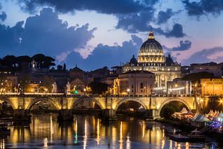 Vatican at dusk
