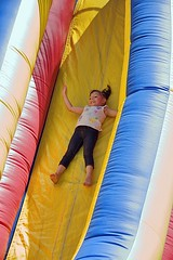 The Big Slide (swong95765) Tags: kid slide steep recreation fun inflateable girl amusement exciting thrill ride gravity