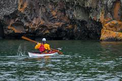 Enjoying life (FJMaiers) Tags: paddle greenland northshore splitrock state park superior lake greatlake minnesota drysuit red yellow nikon d5300 lakesuperior tempest splash lifejacket kayaker