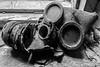 Duga Gas Mask - Chernobyl (Craig Hannah) Tags: duga3 duga gasmasks chernobyl nucleardisaster exclusionzone radioactivecontamination 30kilometrezone zoneofalienation ukraine abandoned derelict decay disused chernobylnuclearpowerstation craighannah september 2017 russianwoodpecker radarsystem