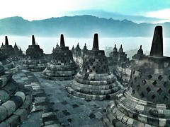 Borobudur (@Mark_Eveleigh) Tags: indonesia indonesian java javanese central island asia asian yogyakarta solo surakarta borobudur temple complex buddha buddhist ancient mystery mysterious sea immortality
