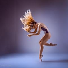 Her passion (sauliuske) Tags: dancer ballerina posing stuio female girl young beautiful body motion hair flip model