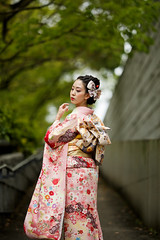 Portrait with Japanese Traditional Kimono (Sigma 135mm Used) (Ilko Allexandroff / イルコ・光の魔術師) Tags: canon sigma 135mm natural light japan kimono traditional comparison 着物 1dx colorful kobe portrait