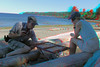 Lantzville beach - Backgammon - 3:31pm (onefocus3d) Tags: redcyanglasses 3d lantzville backgammon