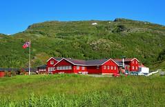 Osterbo Mountain Lodge. (Eddie Crutchley) Tags: europe norway cruise2017norwayicelandireland outdoor countryside mountain blueskies nature simplysuperb
