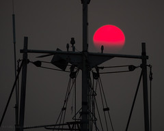 The Red Planet (iPhilFlash) Tags: vancouver sky silhouette sunset richmond britishcolumbia garrypointpark outdoors steveston canada nature outdoor mast red ca