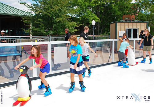 Synthetic ice rink in Oklahoma City Zoo